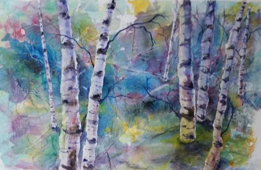 Birch Trees 29.5 X 19.5